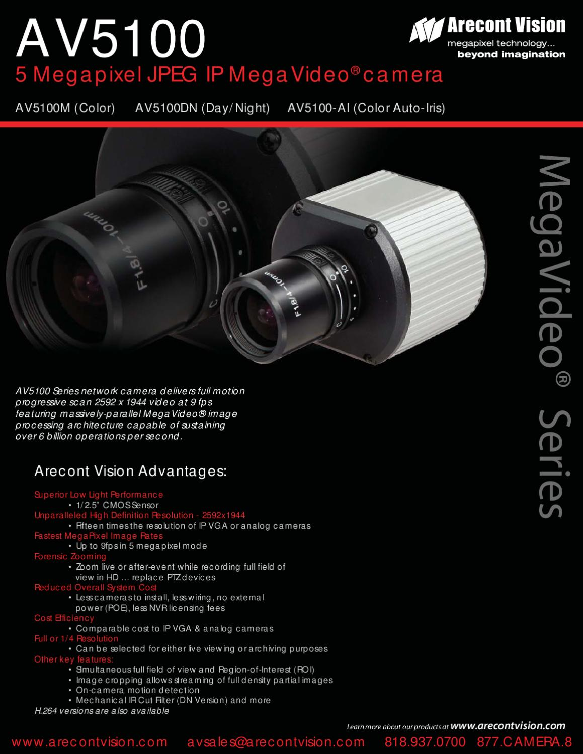 Arecont Vision_AV5100_12.09 by Arecont Vision