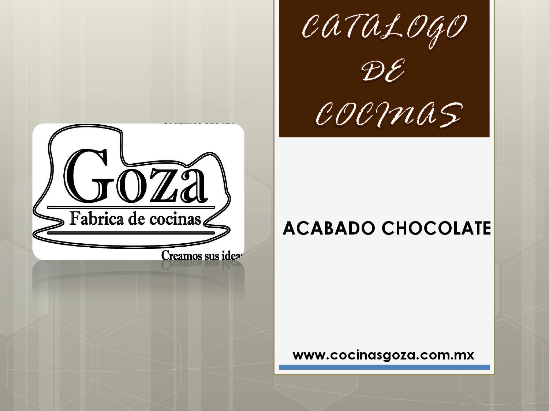 Catalogo de cocinas integrales acabado chocolate by for Catalogo cocinas integrales