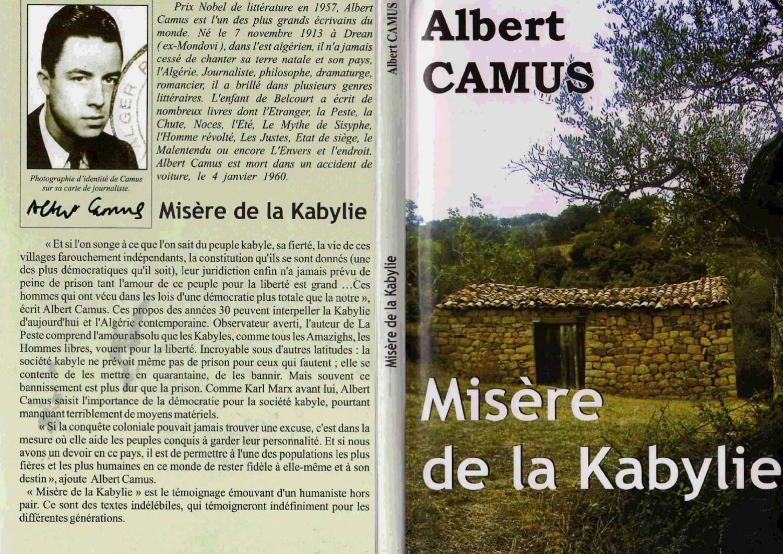 ALBERT CAMUS misere de kabylie pdf by hakim ahamed - issuu