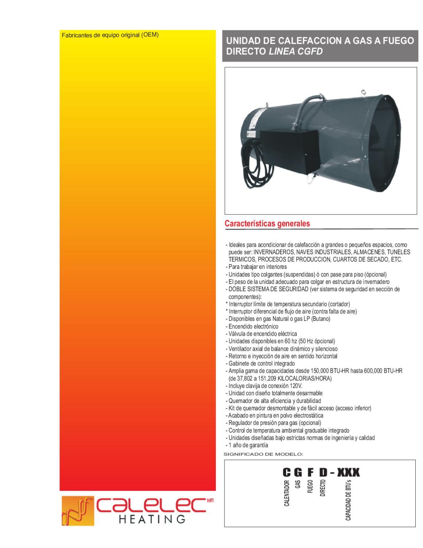 Folleto calentador a gas para invernaderos fuego directo - Tipos de calentadores de gas ...