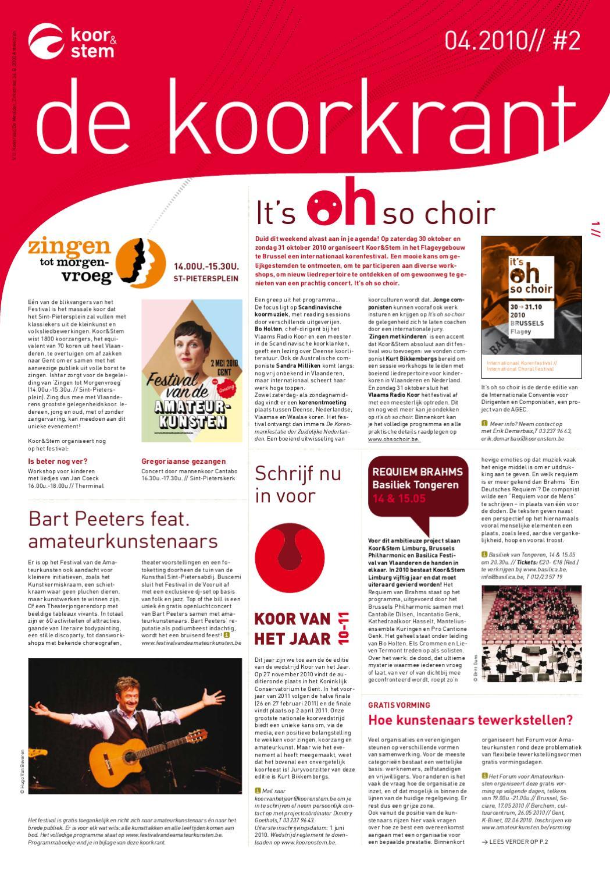 Koorkrant april 2010 by koor stem vzw issuu - De scandinavische cocktail ...