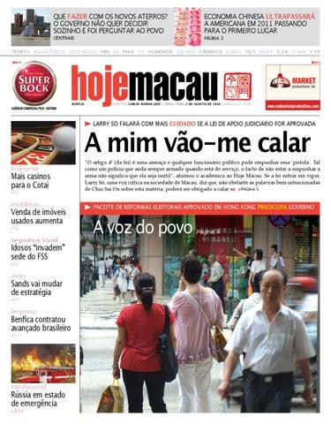 Hoje Macau • 2010.08.03 #2179