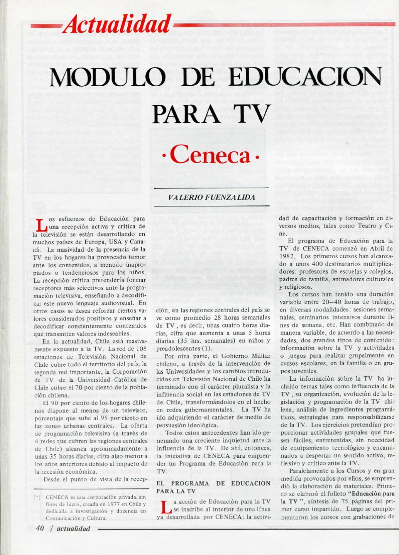 Actualidad m dulo de educaci n para tv ceneca by - Modulo para tv ...