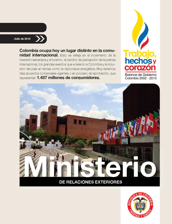 Balance ministerio de relaciones exteriores thyc by for Oposiciones ministerio de exteriores