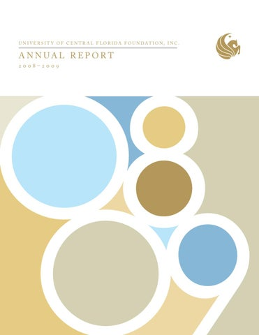 UCF Foundation, Inc. Annual Report 2008-2009