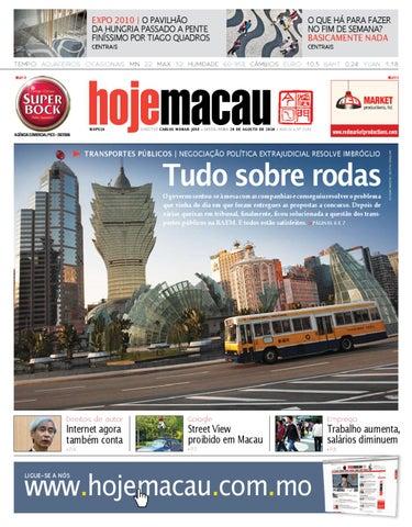 Hoje Macau • 2010.08.20 #2193