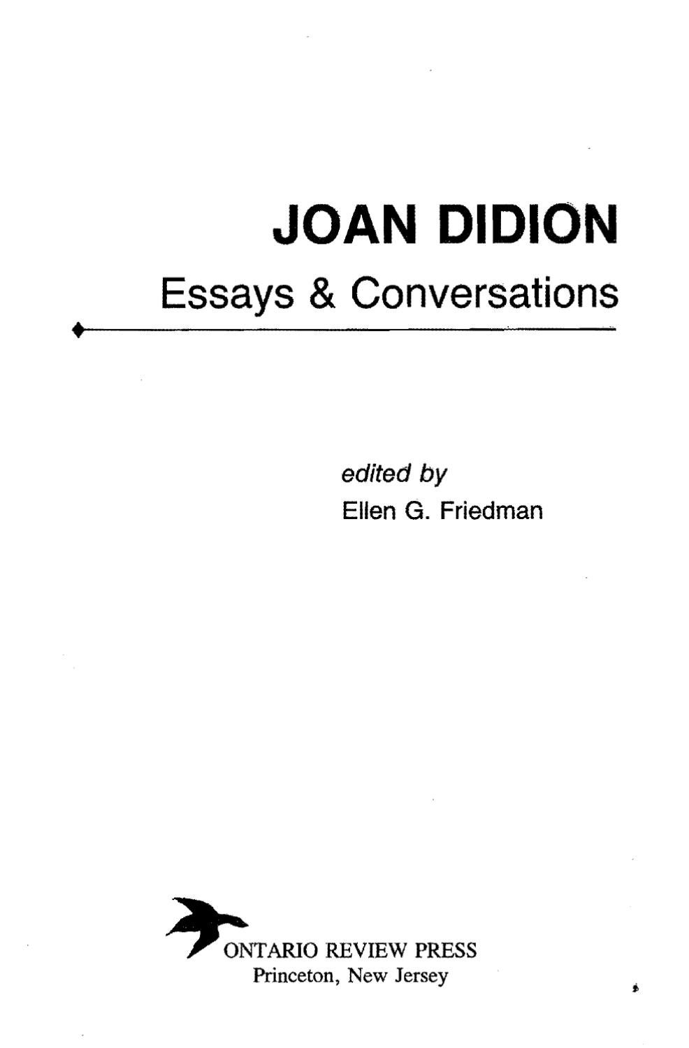 joan didion essays and conversations by cillian murphy issuu
