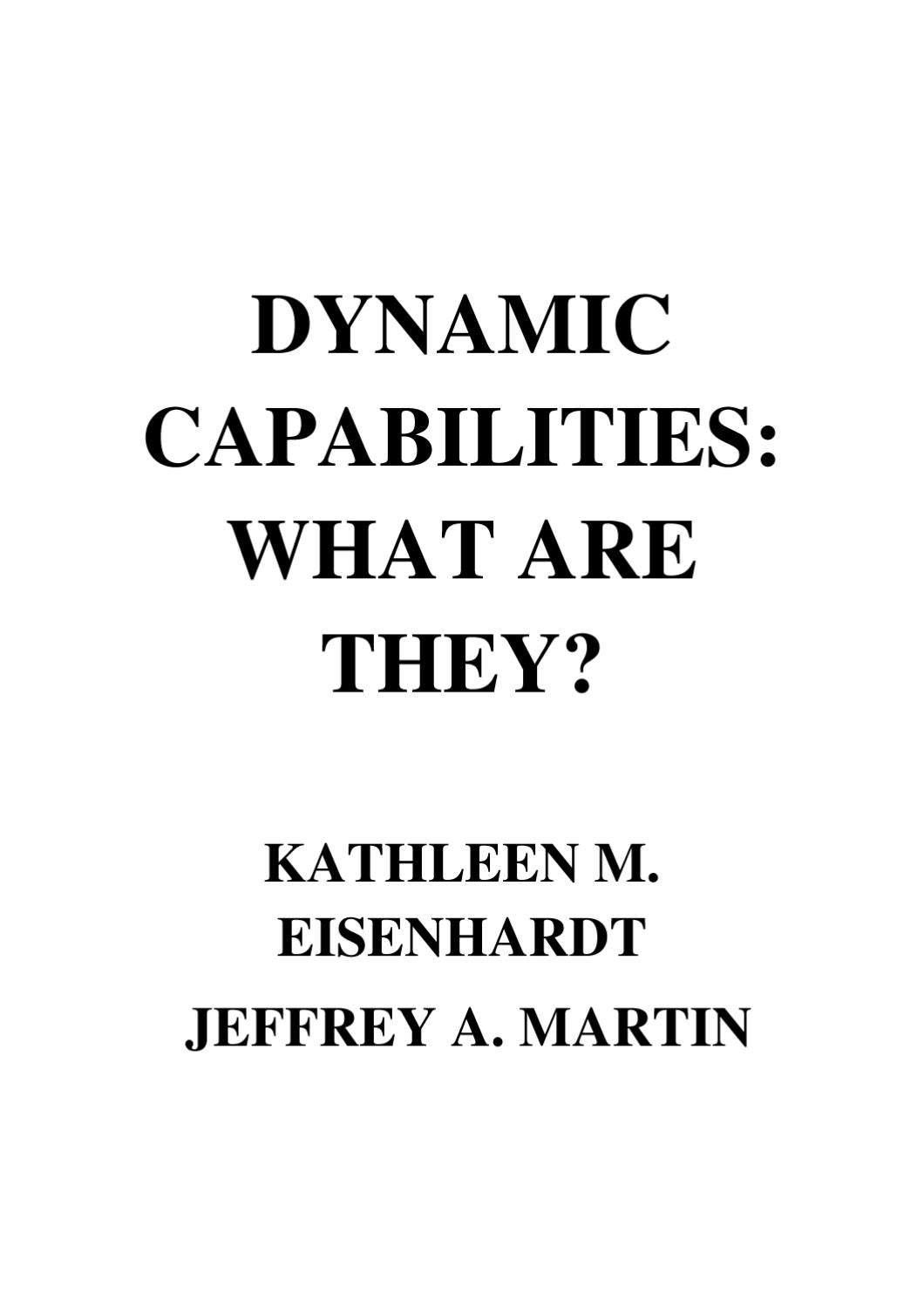 strategic capabilities darden Brief discussion of resources and capabilities, their importance, and their role in the creation of competitive advantage.