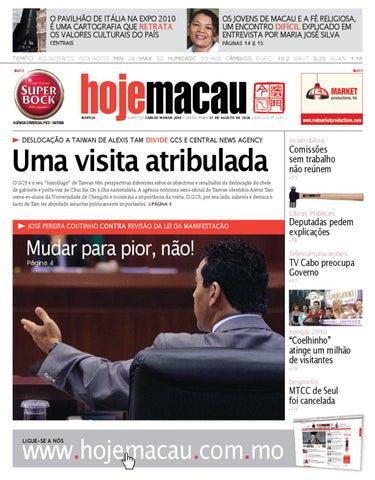 Hoje Macau • 2010.08.27 #2198