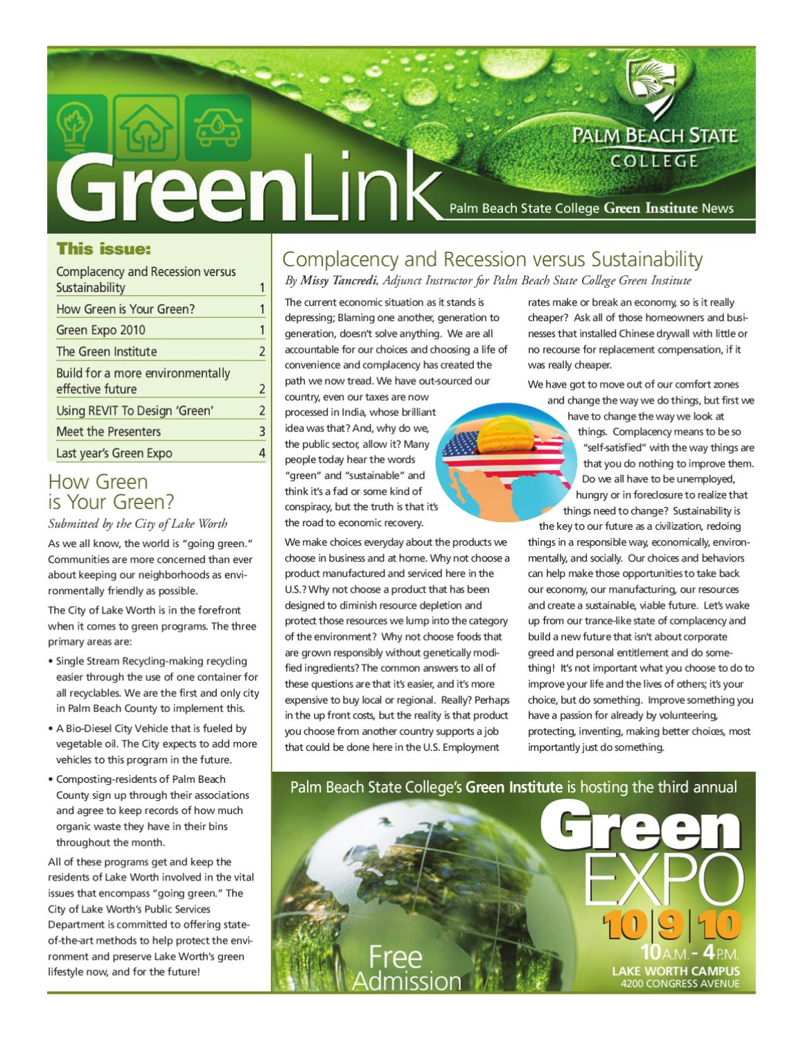 Green Links 2010 By Palm Beach State College Issuu