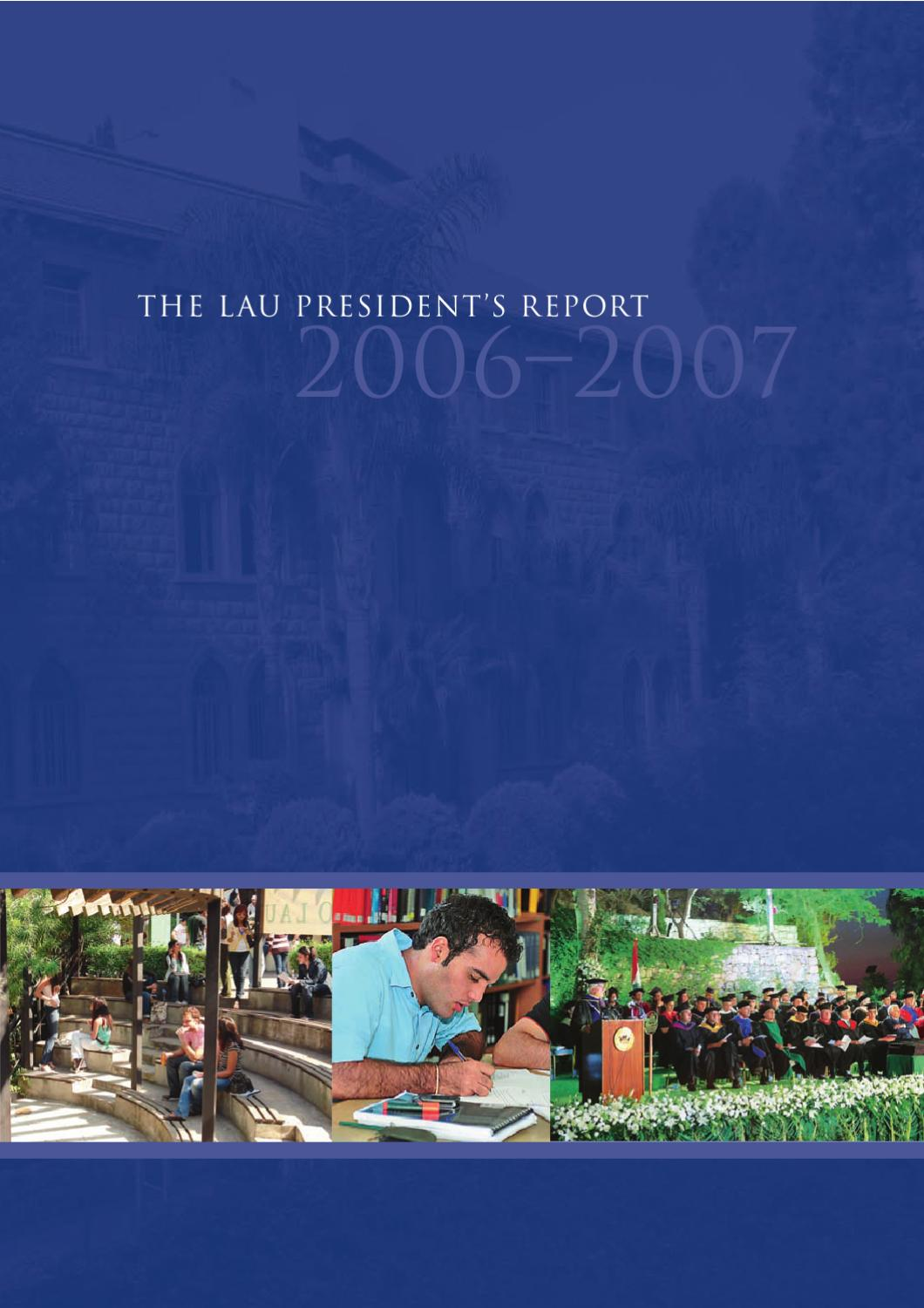 lau president s report by lebanese american university issuu