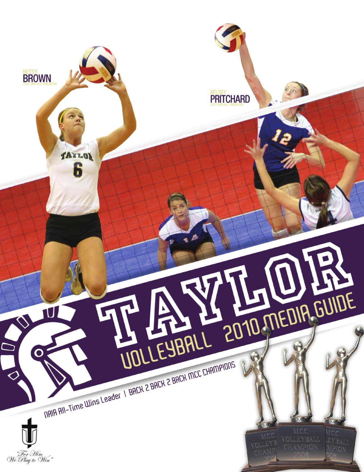 2010 Taylor University Volleyball Media Guide By Taylor