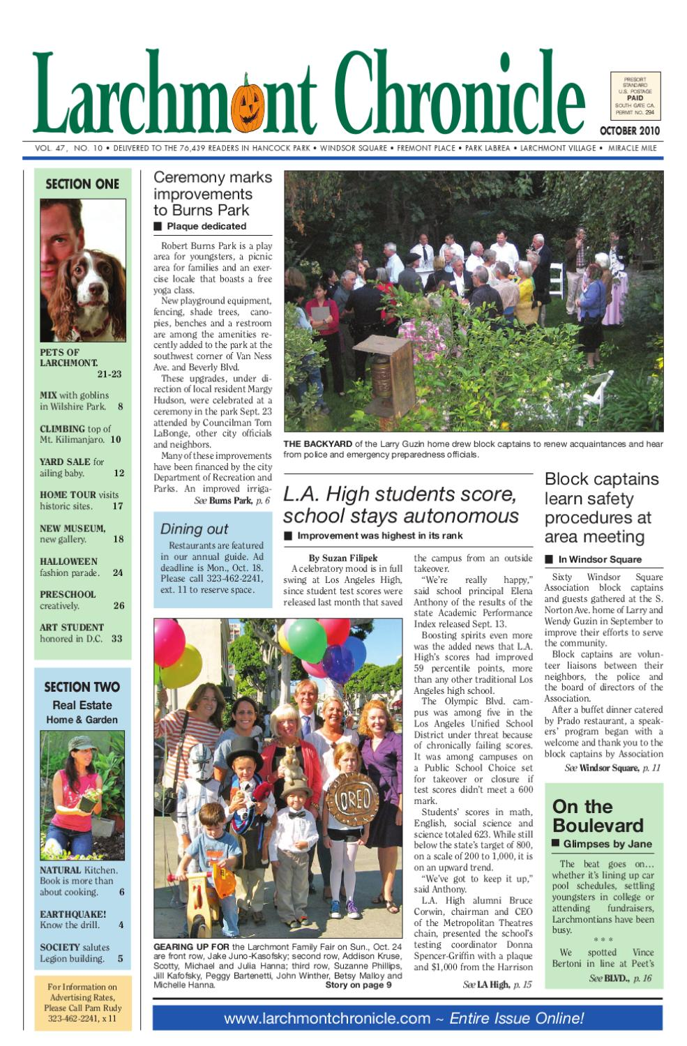 2010 10 Larchmont Chronicle By Larchmont Chronicle Issuu