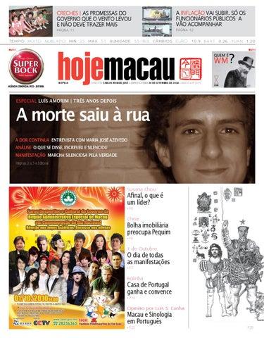 Hoje Macau • 2010.09.30 #2220