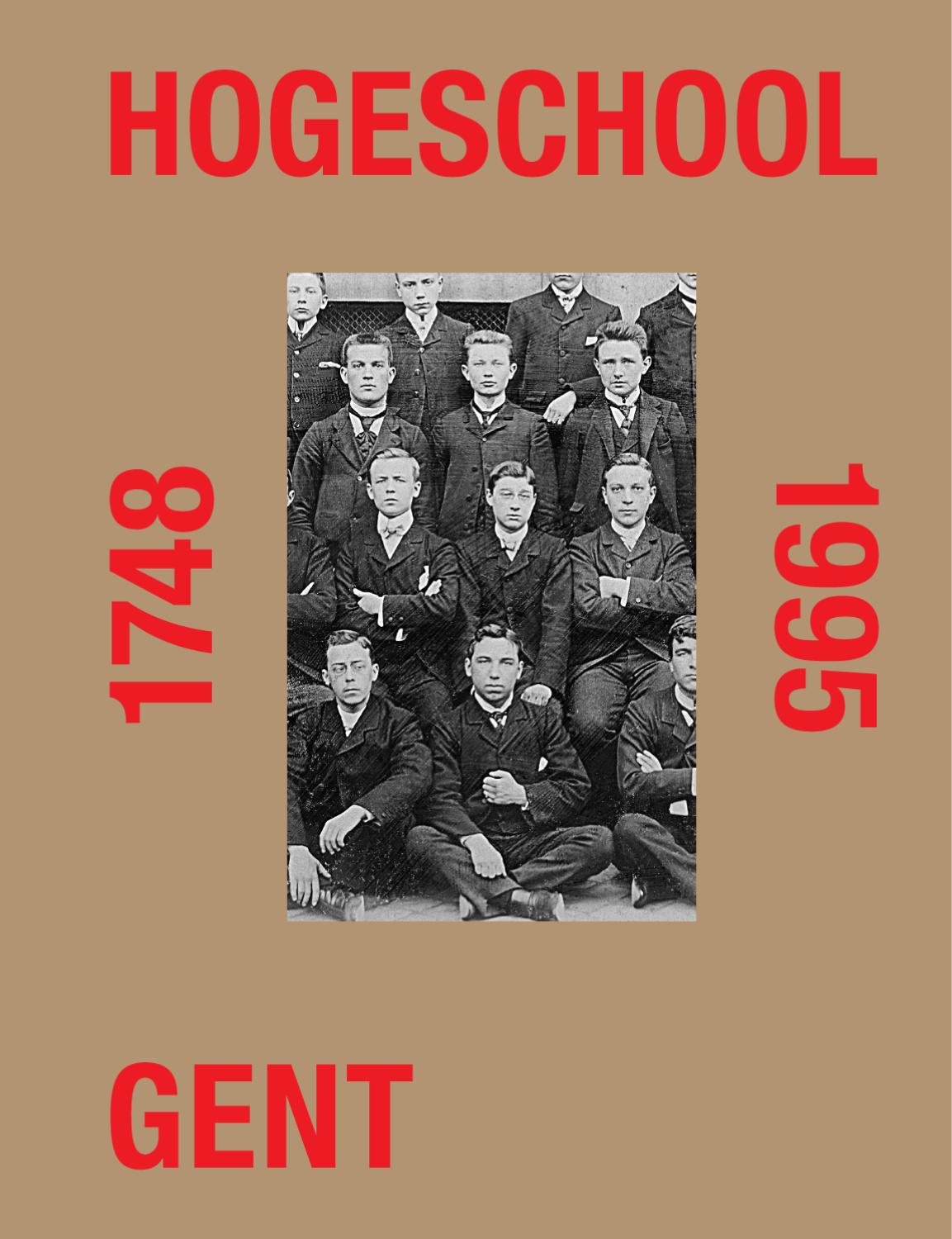 Hogeschool gent 1748 1995 (sample pages) by studio luc derycke   issuu