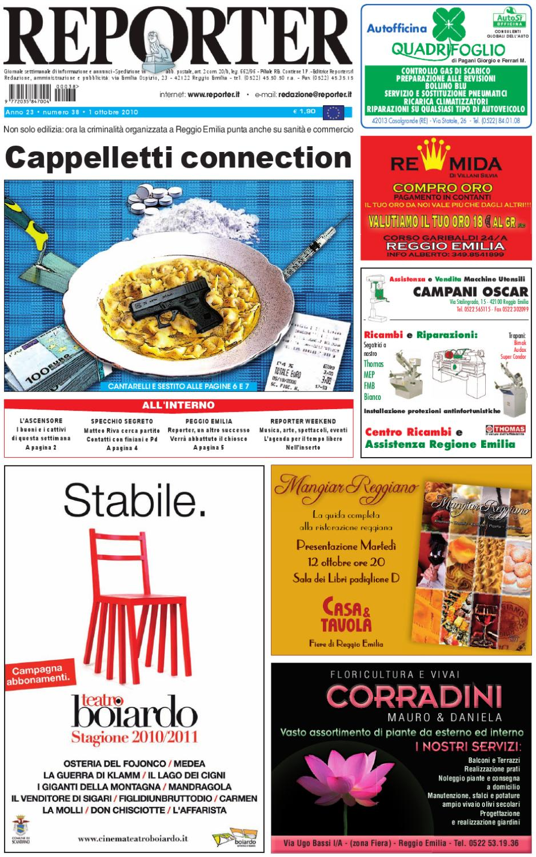 Reporter giornale 1 ottobre 2010 by reporter issuu for Oscar utensili