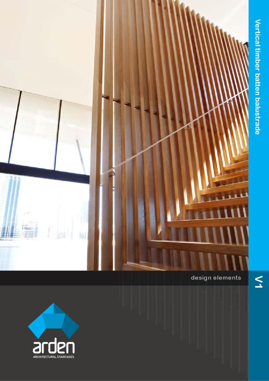 Design Element V1 Vertical Timber Batten Balustrade By