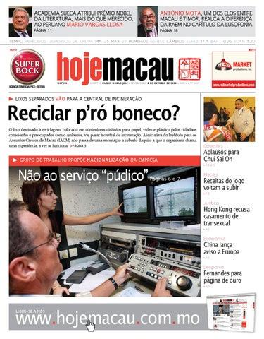 Hoje Macau • 2010.10.08 #2224