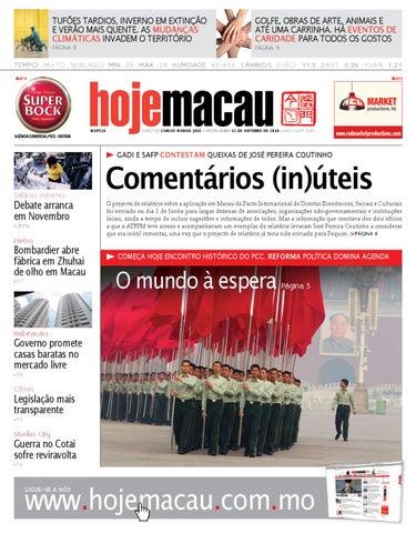 Hoje Macau • 2010.10.15 #2229