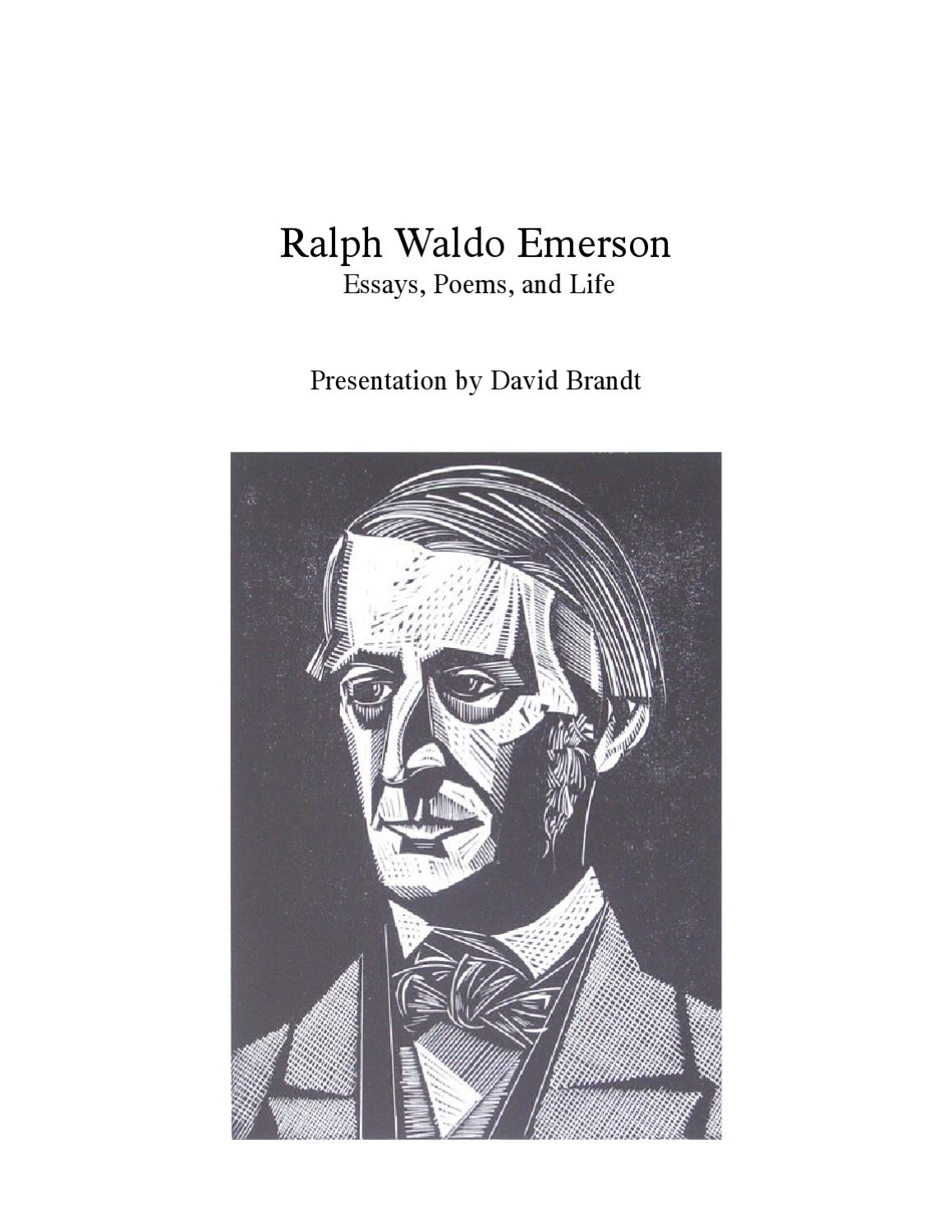 ralph waldo emerson essay composition Ralph waldo emerson a wise writer will feel that the ends of study and composition are best answered by i shall therefore conclude this essay with some.