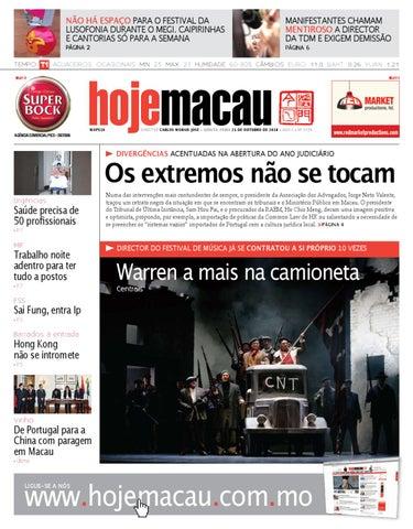 Hoje Macau • 2010.10.21 #2234