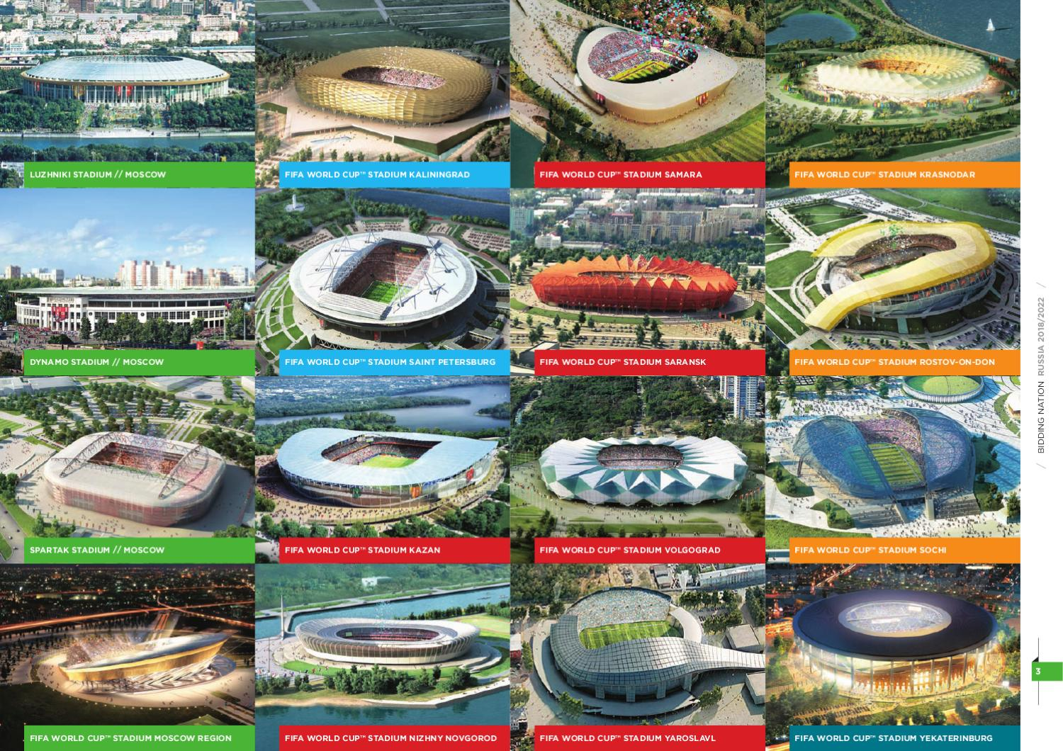World Cup 2018 Stadiums In Russia