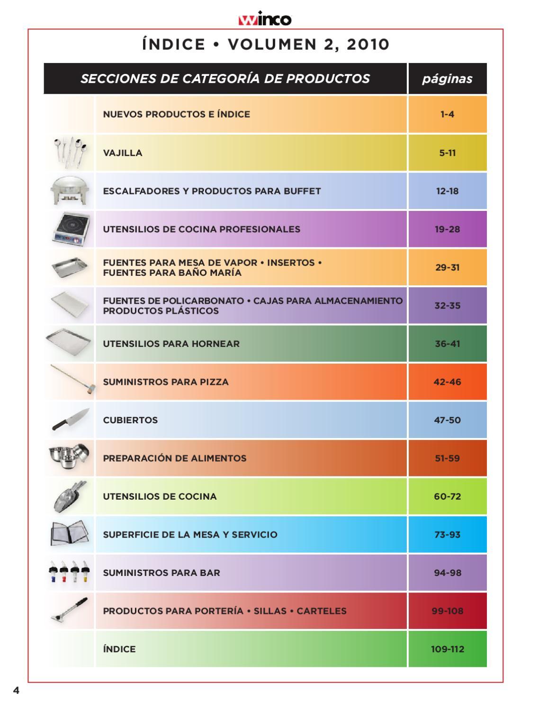 cat logo utensilios y accesorios winco pallomaro by On utensilios de cocina por catalogo