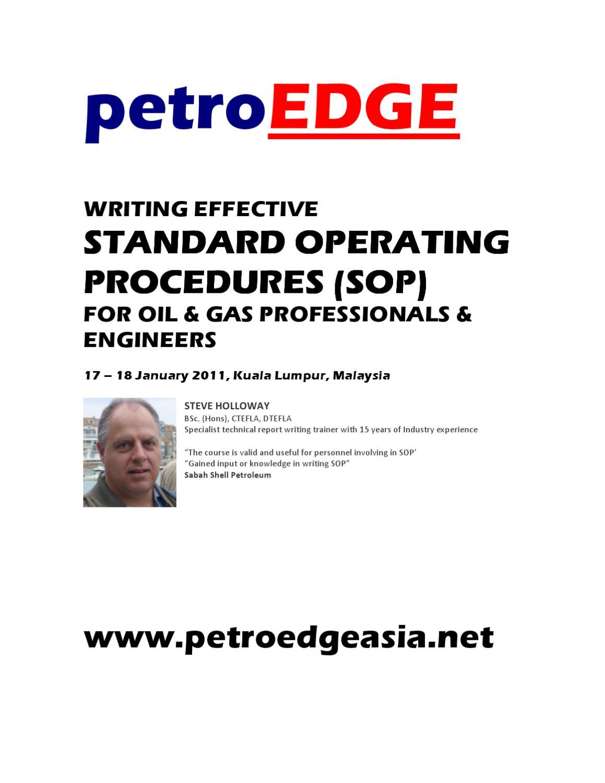 writing standard operating procedures