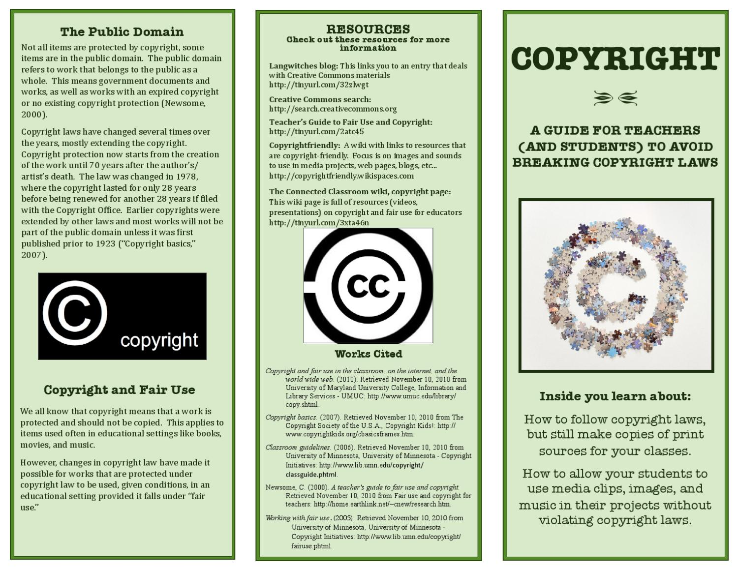Copyright brochure fair use by jessica schmitz issuu for Copyright facts and information
