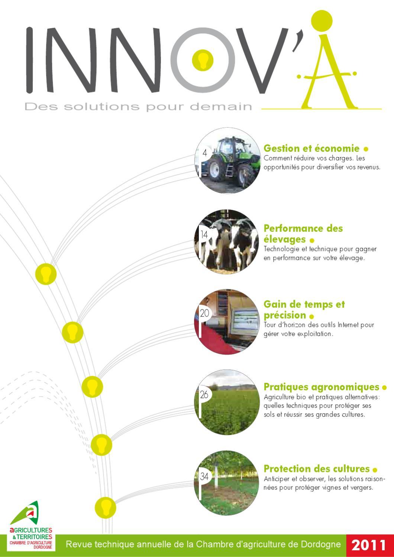 Innov 39 a la revue technique de la chambre d 39 agriculture de for Chambre d agriculture 34