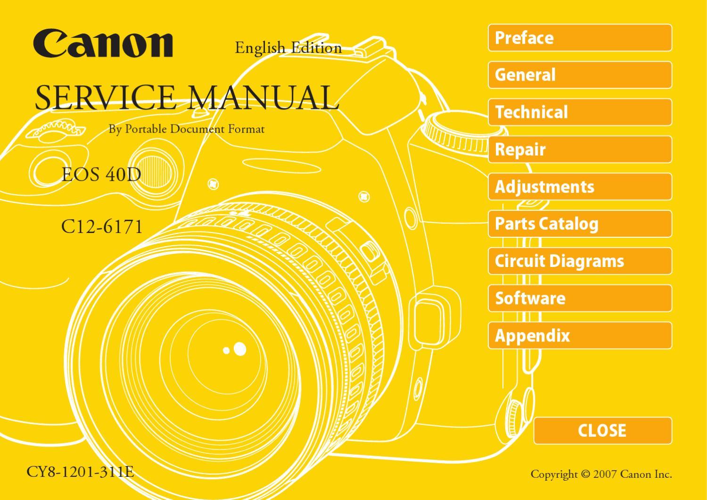 canon eos 40d service manual repair guide by anh tran issuu User Manual User Manual PDF