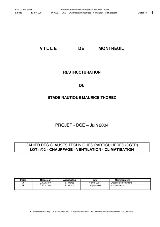 for Cctp architecte