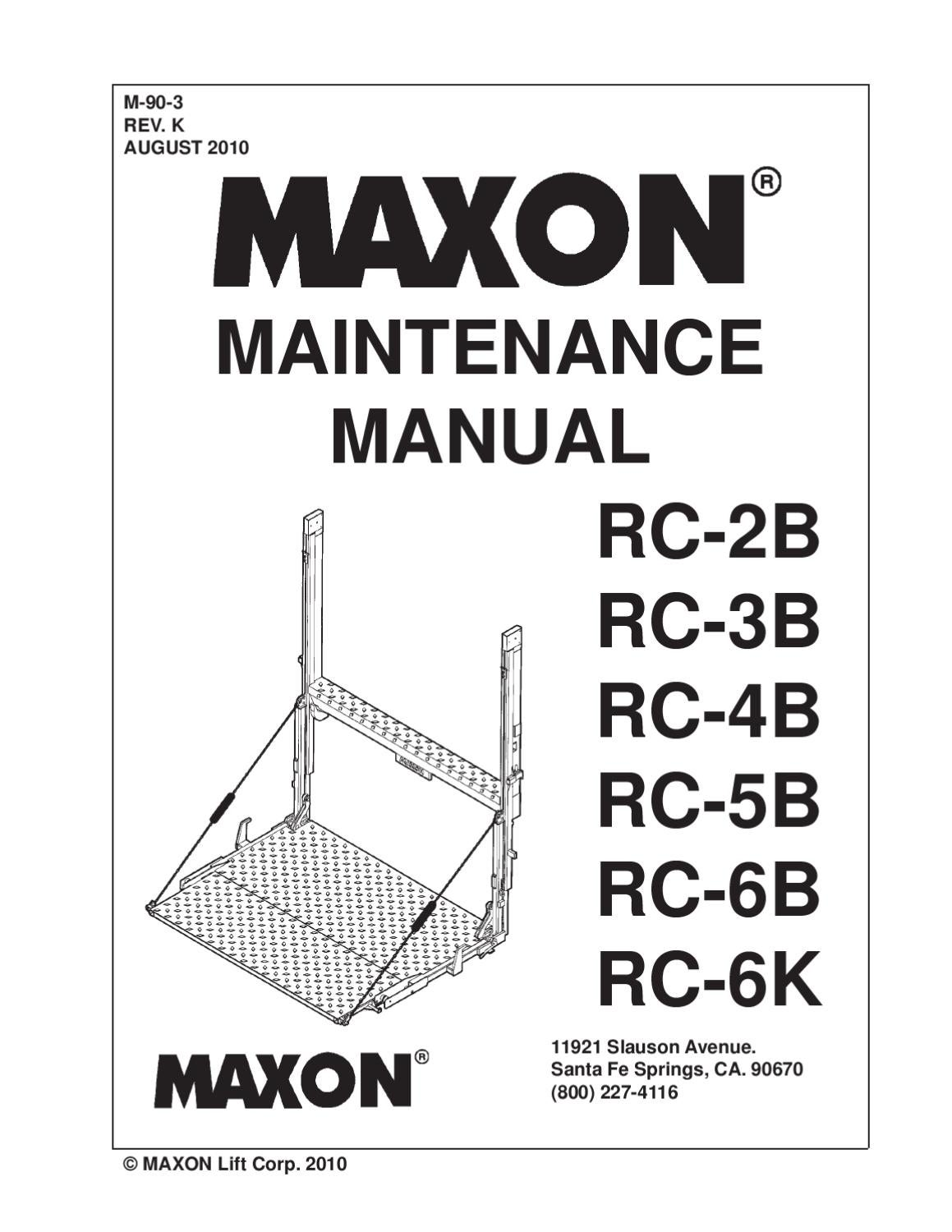 Maxon Rc Series Liftgate By The Liftgate Parts Co