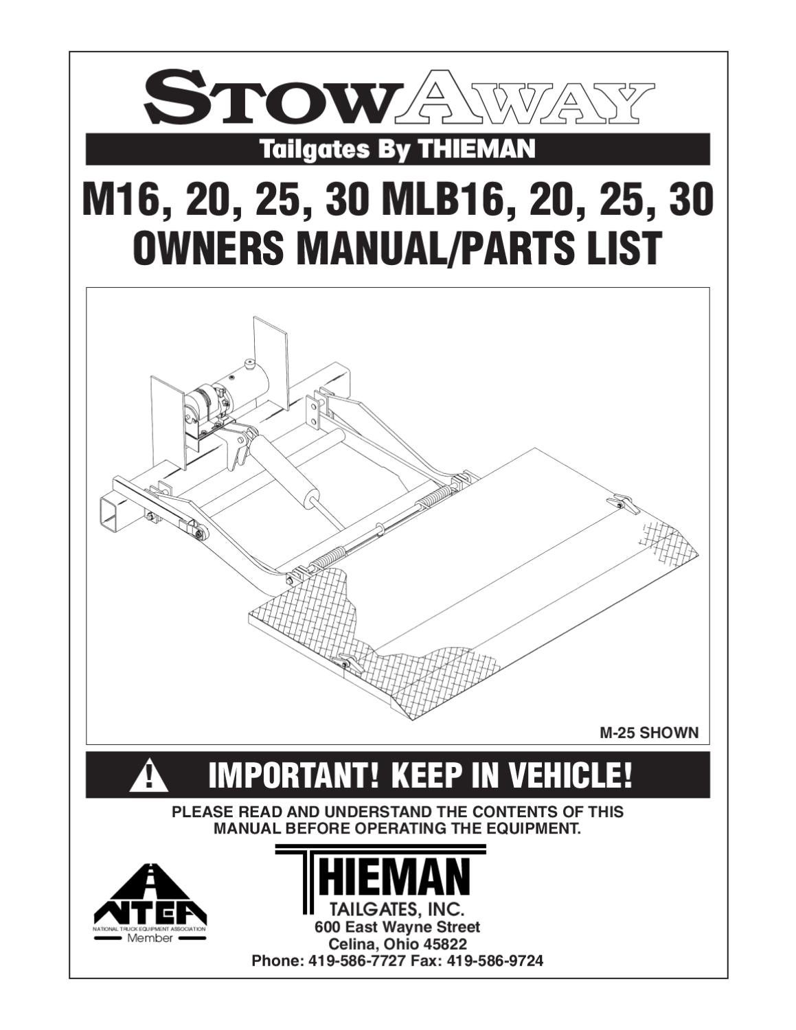 Thieman Liftgate Wiring Diagram Great Design Of Maxon 280252 Harness M Series By The Parts Co Issuu Tommy Gate Tieman Tailgate