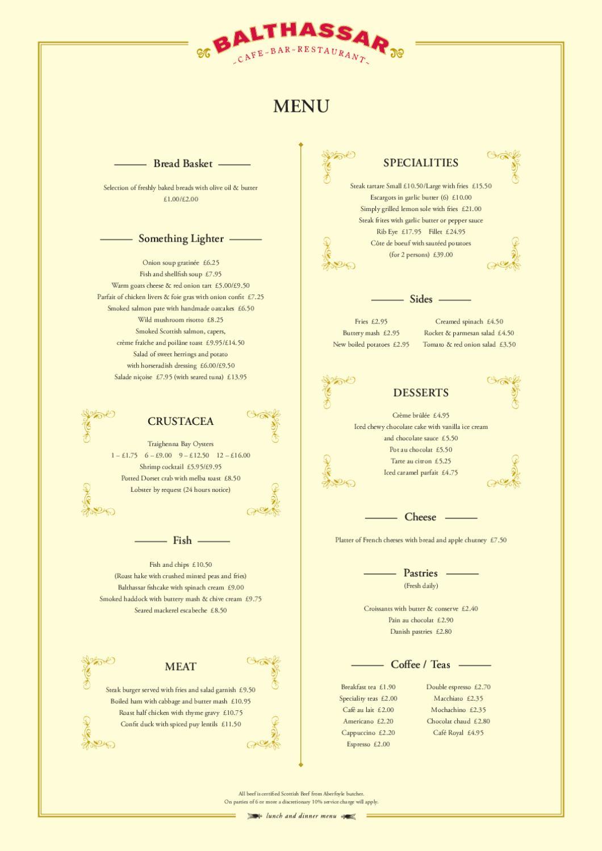 Balthassar food menu by red amber green issuu for Amber cuisine elderslie menu