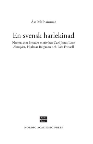 En svensk harlekinad   narren som litterärt motiv hos Carl Jonas Love  Almqvist 623f541a9162d