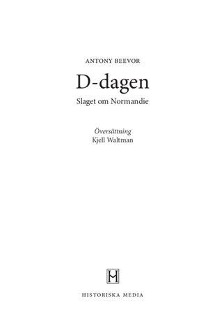D-dagen   slaget om Normandie av Antony Beevor - Provläs boken gratis online ! a1eb28d15ec7f