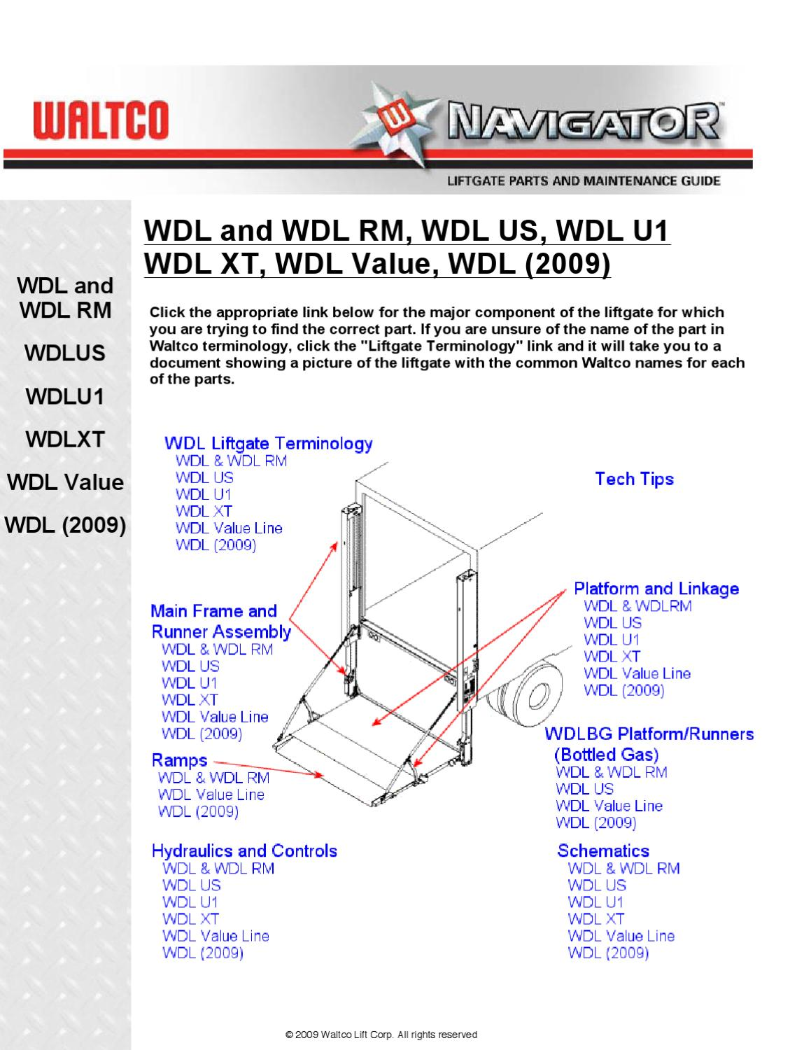 Waltco WDL Series Liftgate by THE Liftgate Parts Co  issuu