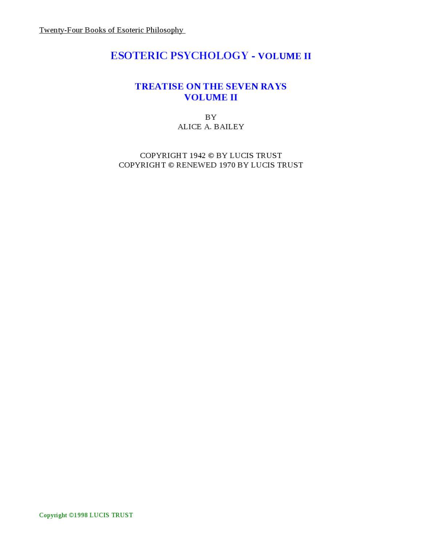 Esoteric Society - Vol 2