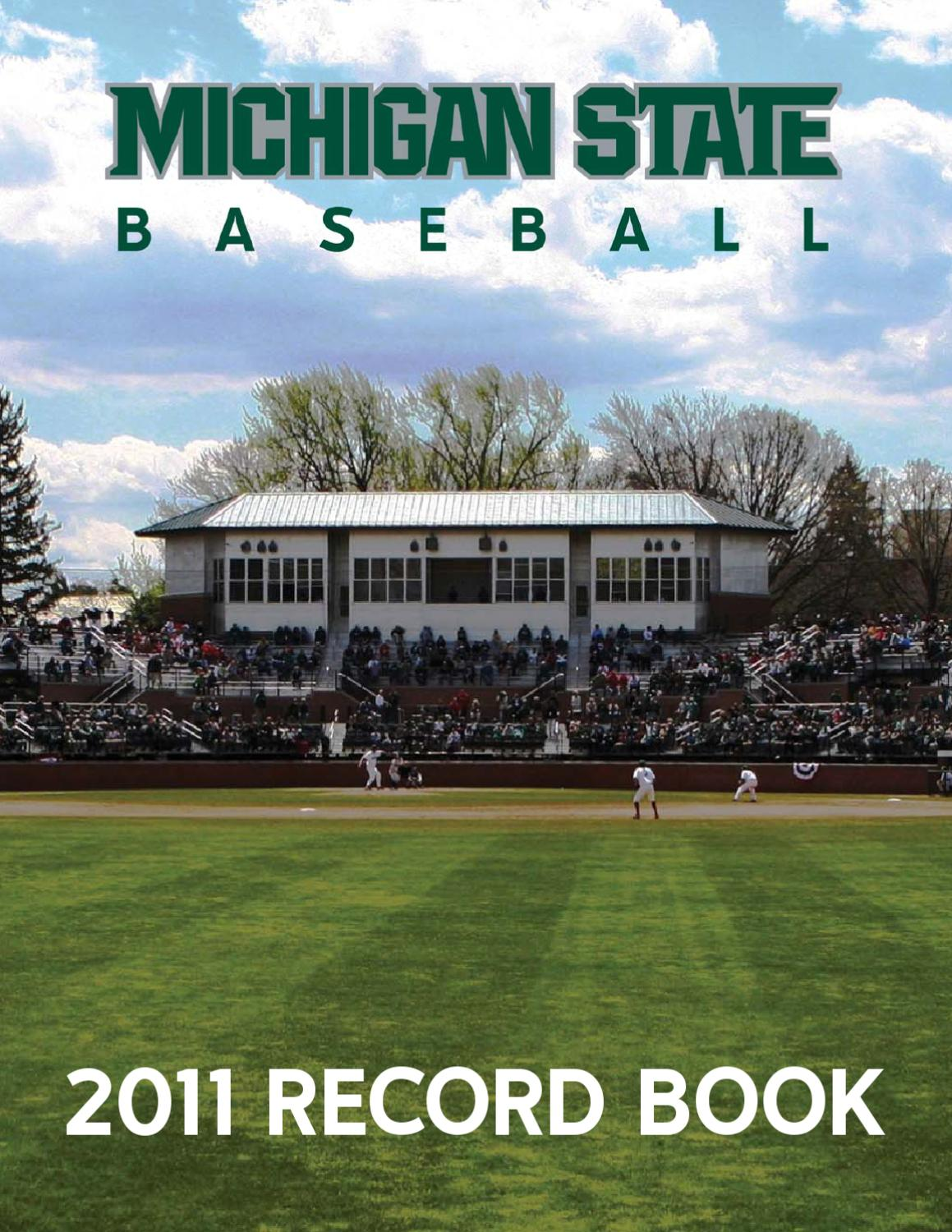 2011 michigan state baseball record book by ben phlegar issuu