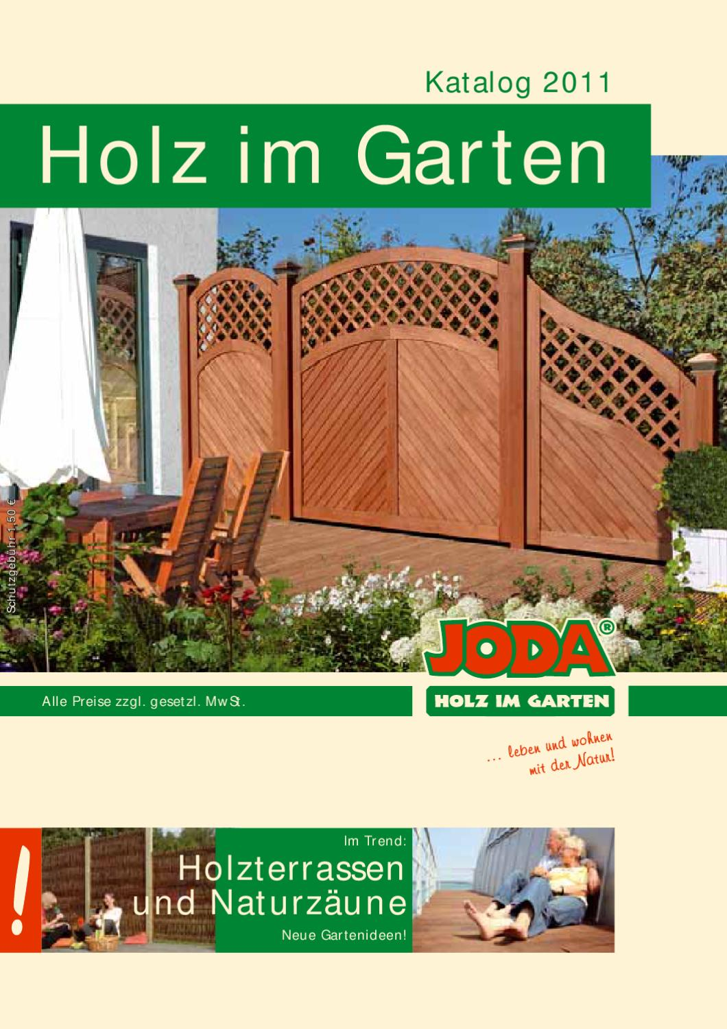 joda holz im garten katalog 2011 by gk fachmarkt issuu. Black Bedroom Furniture Sets. Home Design Ideas