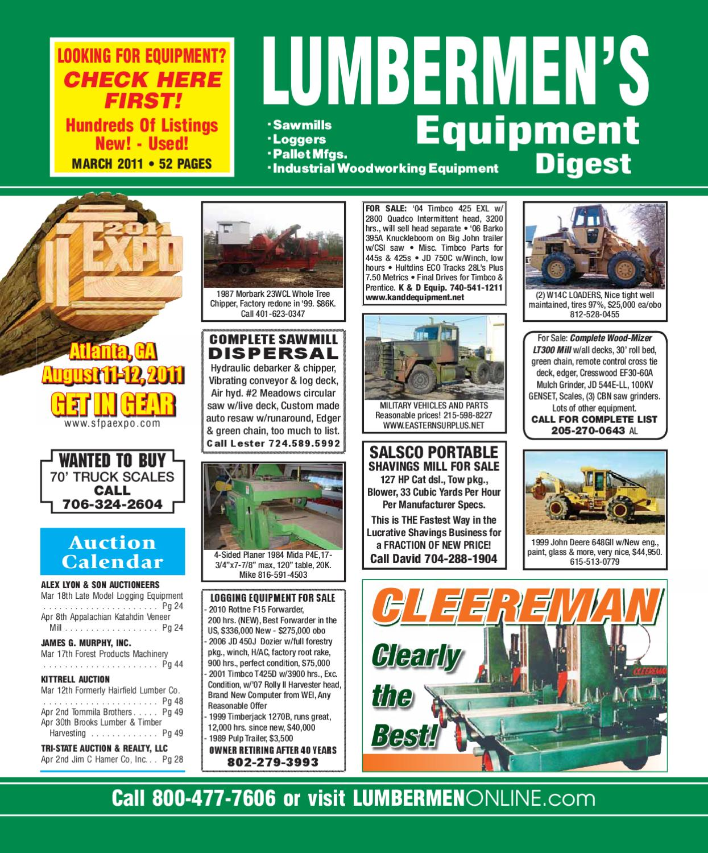March 2011 Lumbermen S Equipment Digest By Lumbermen S