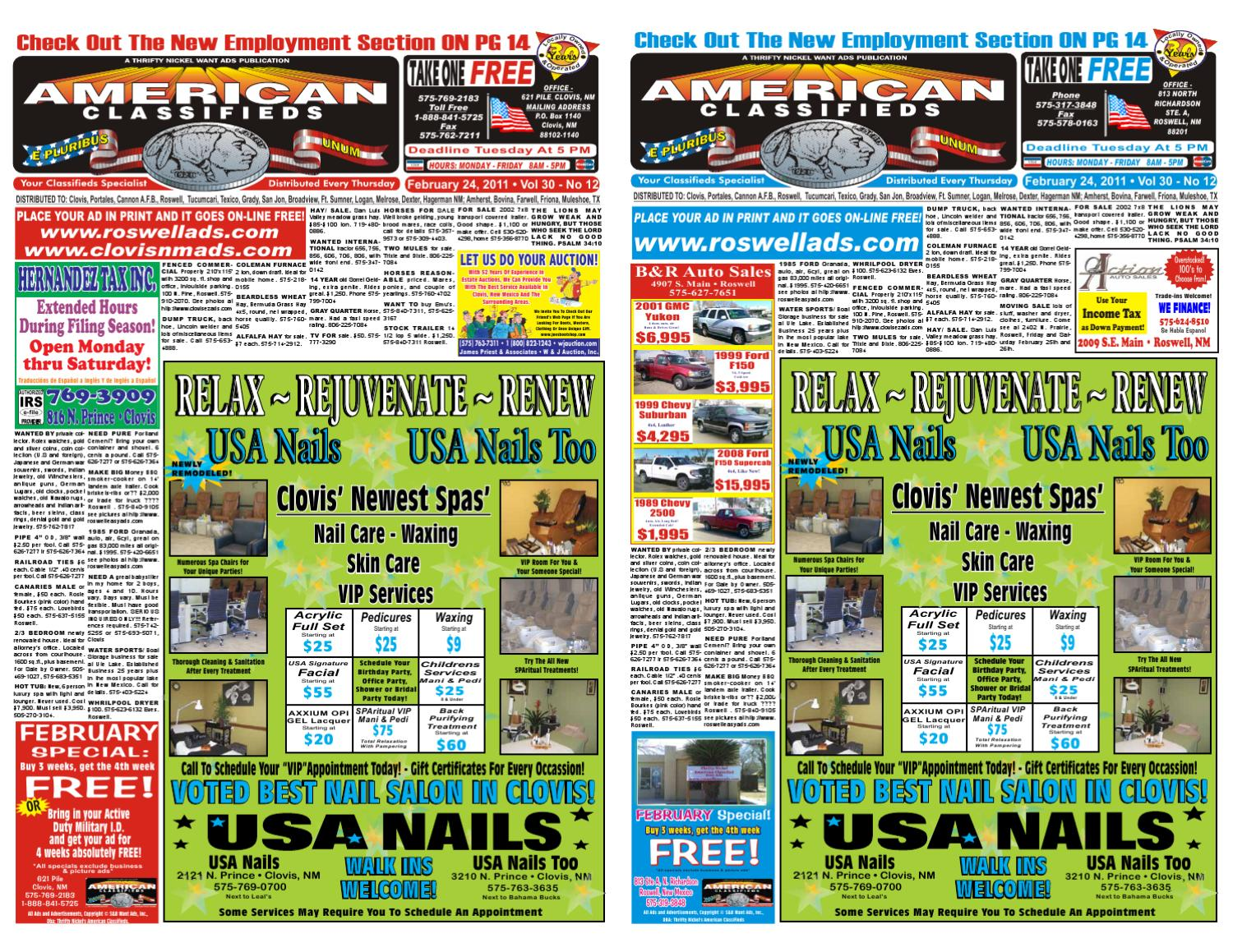 Thrifty Nickel Cars For Sale >> ISSUU - Thrifty Nickel/American Classifieds Roswell/Clovis by EZAds of USA