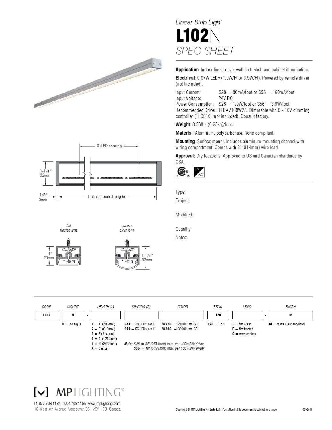 L102a spec by mp lighting issuu for Spec home business plan