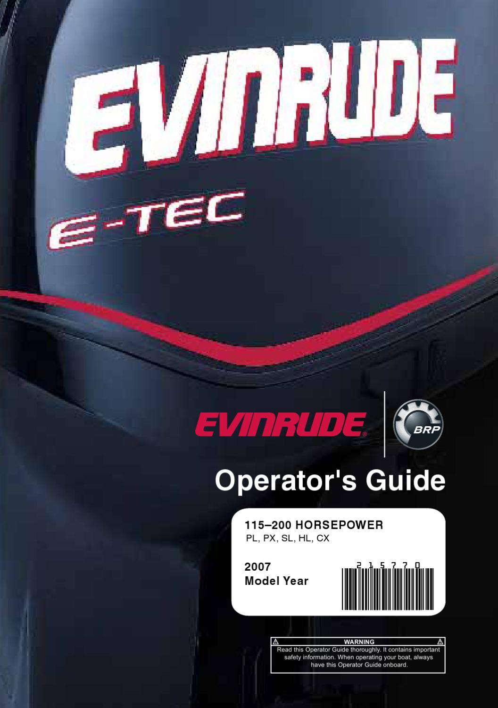 2007 evinrude e tec 115 200hp operator guide 215770e Evinrude E-TEC Logo Evinrude E-TEC Logo