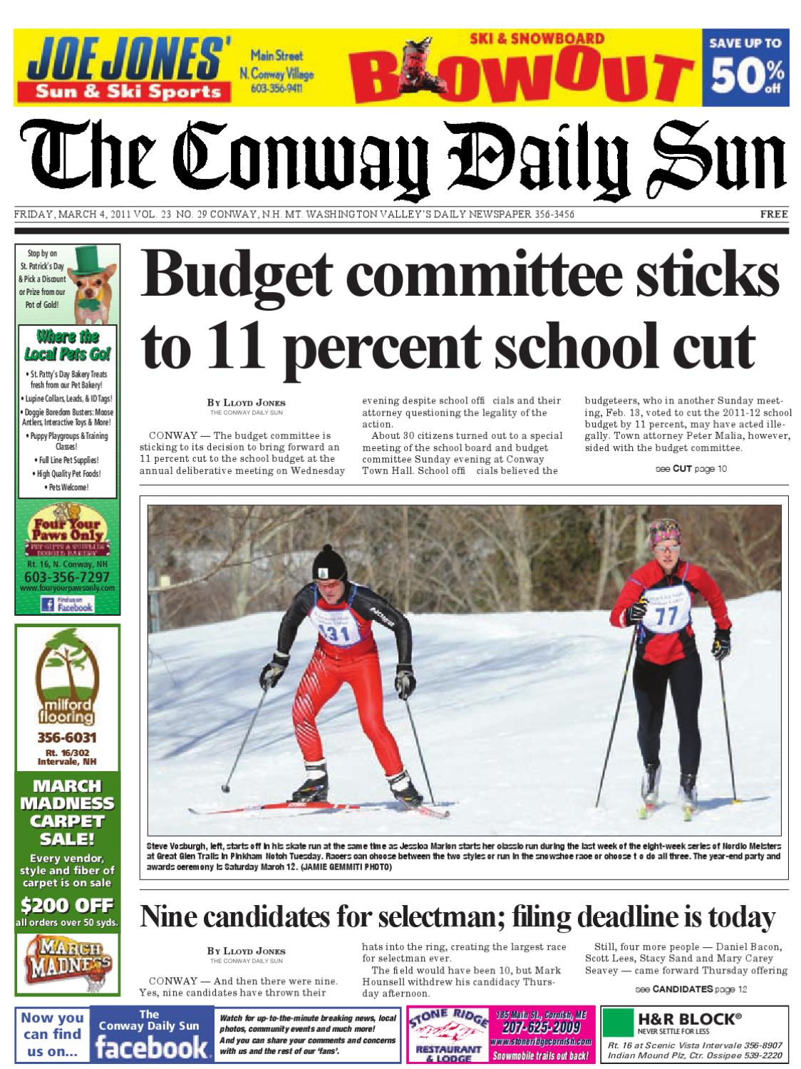 The Conway Daily Sun Friday March 4 2011 By Daily Sun Issuu