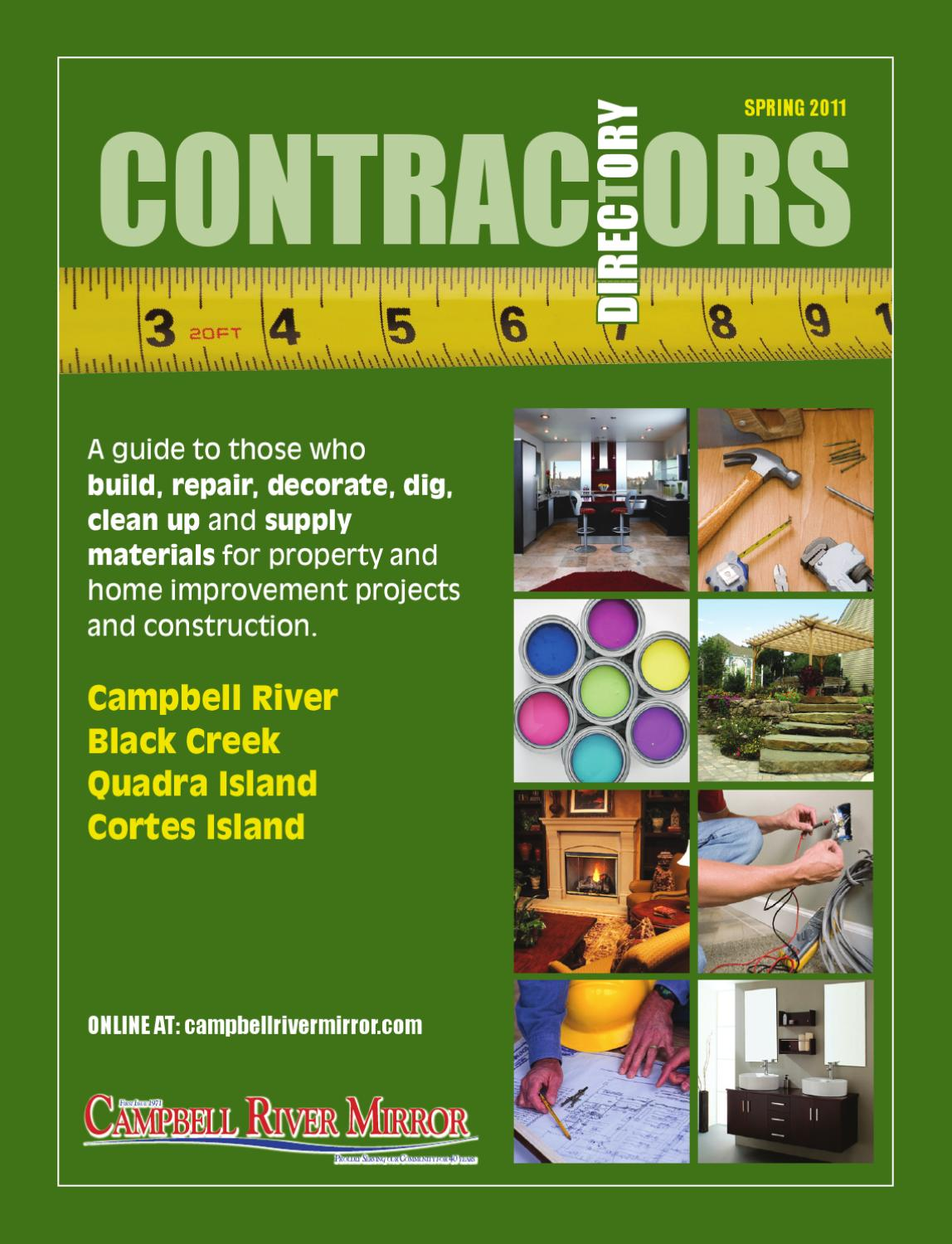 Contractor39s Directory March 4 2011 By Campbell River Mirror Issuu