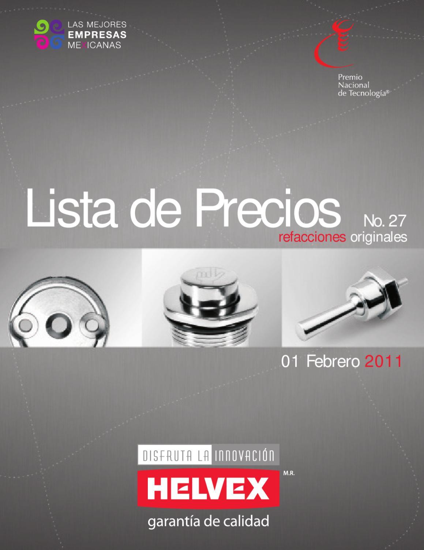 Lista precios refacciones helvex by juan garcia issuu for Marcas de llaves para regadera