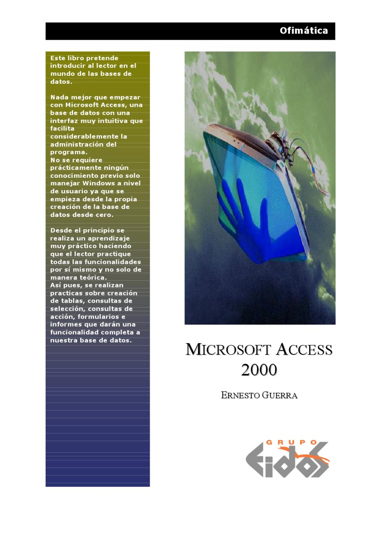 microsoft access 2000 tutorial pdf