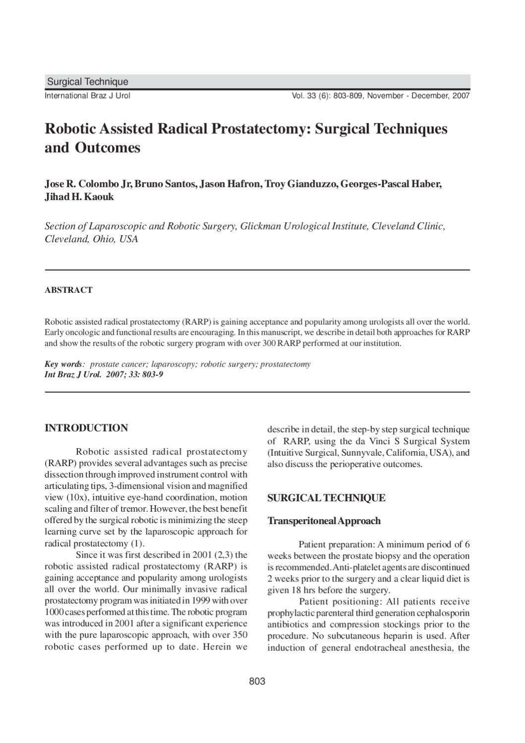 robotic assisted radical prostatectomy by urovideo urovideo issuu